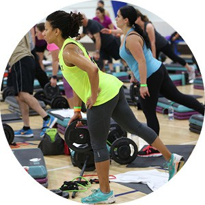 les mills group fitness class