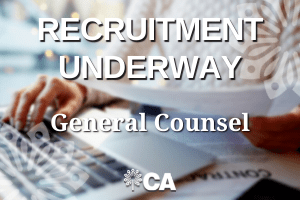 Now hiring General Counsel